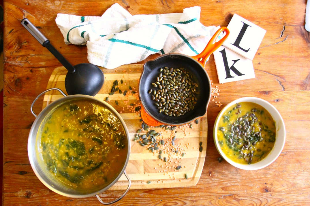 Sweet potato, Lentil and Spinach Soup | Munch
